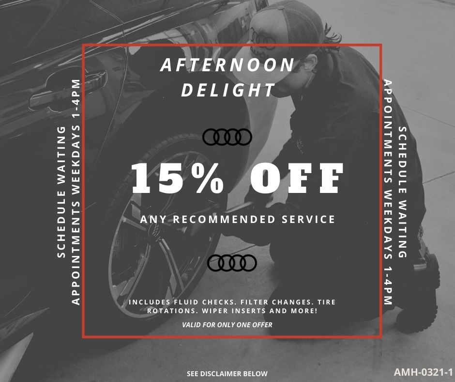 AFTERNOON DELIGHT - 15% off any recommended service
