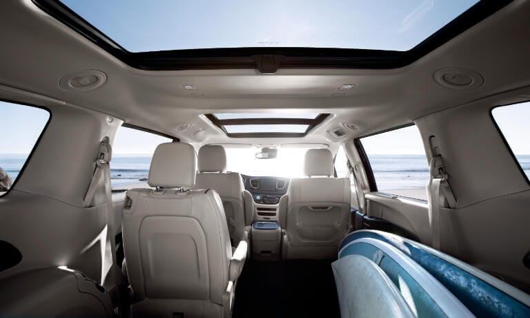 2019 Chrysler Pacifica interior full cargo space view