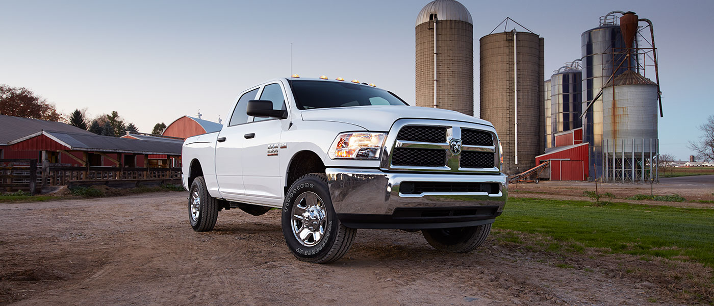 2019 RAM 2500 parked outside farm