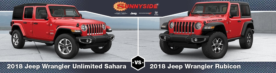 2018 Jeep Wrangler Unlimited Sahara vs. Rubicon: What's ...