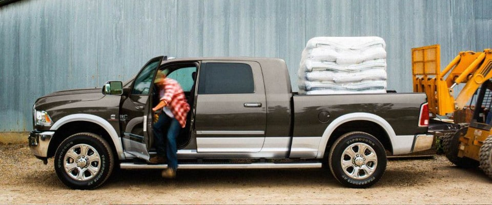 2018 RAM 2500 bed loaded with sand bags