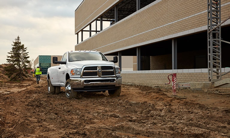 2019 Ram 2500 in construction zone