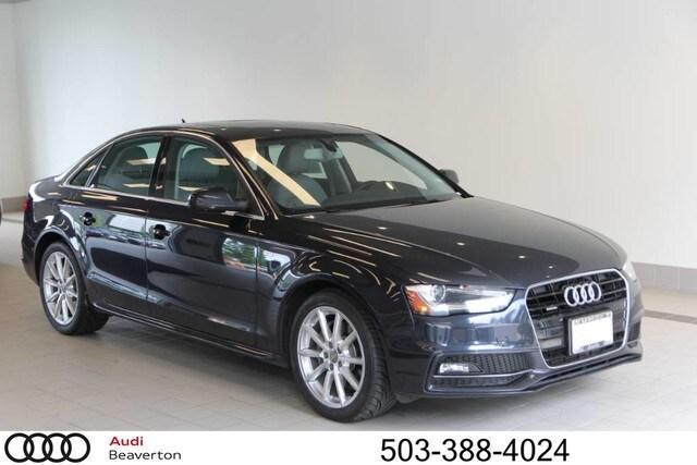 Pre-Owned 2014 Audi A4 2.0T Premium Plus (Tiptronic) Sedan for sale in Beaverton, OR