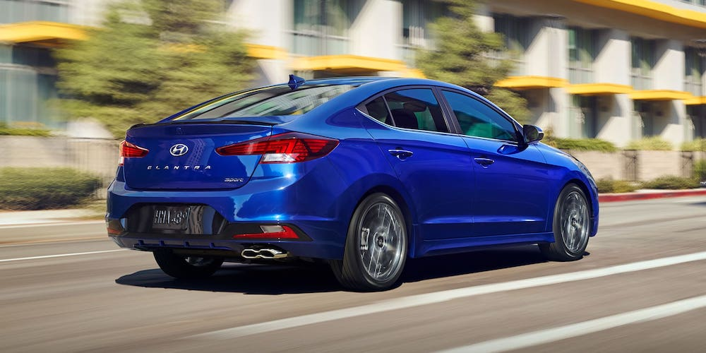 Blue 2020 Hyundai Elantra Sport in City