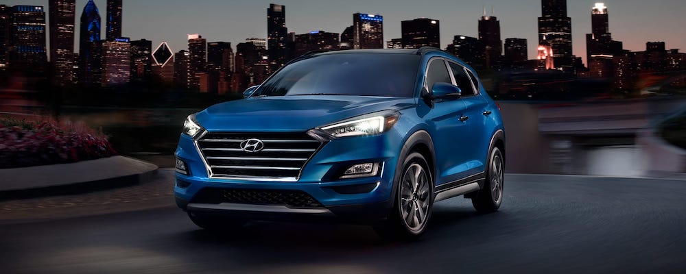 Blue 2020 Hyundai Tucson in City