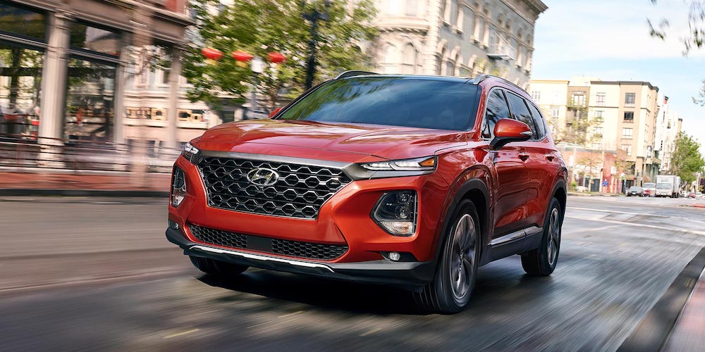 2019 santa fe driving in city