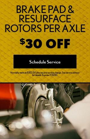 Brake Pad & Resurface Rotors Per Axle