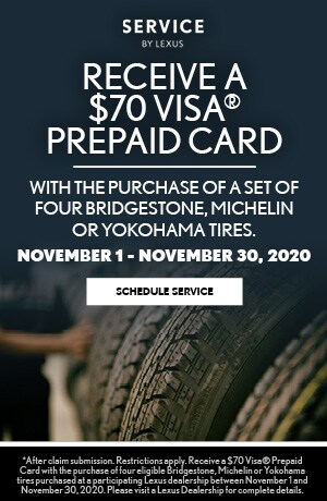 Receive a $70 VISA® Prepaid Card with the purchase of a set of four tires