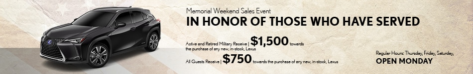 Memorial Weekend Sales Event-May