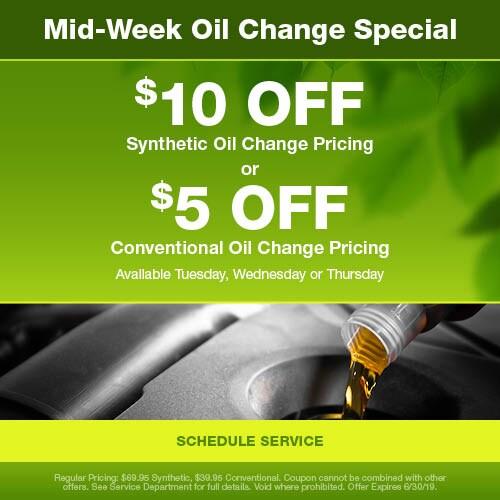Mid-Week Oil Change Special