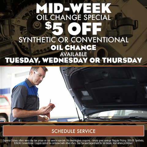 Mid-Week Oil change Special
