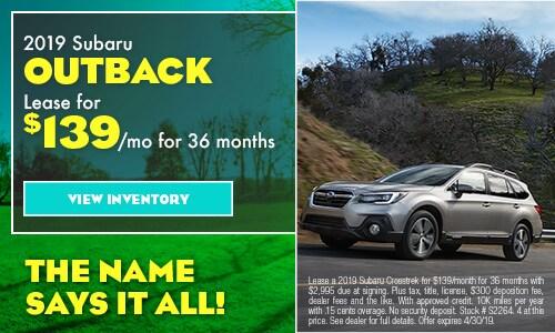 April Special - 2019 Subaru Outback