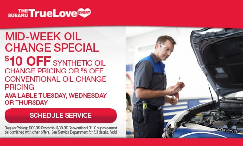 $10 OFF - Mid-Week Oil Change Special