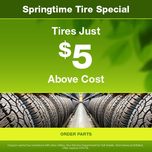 Tires Just $5 Above Cost