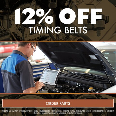 12% Off Timing Belts