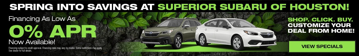 Spring Into Savings at Superior Subaru of Houston!