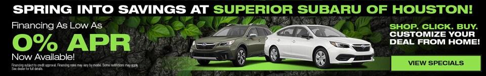 Spring Into Savings at Superior Subaru of Houston!