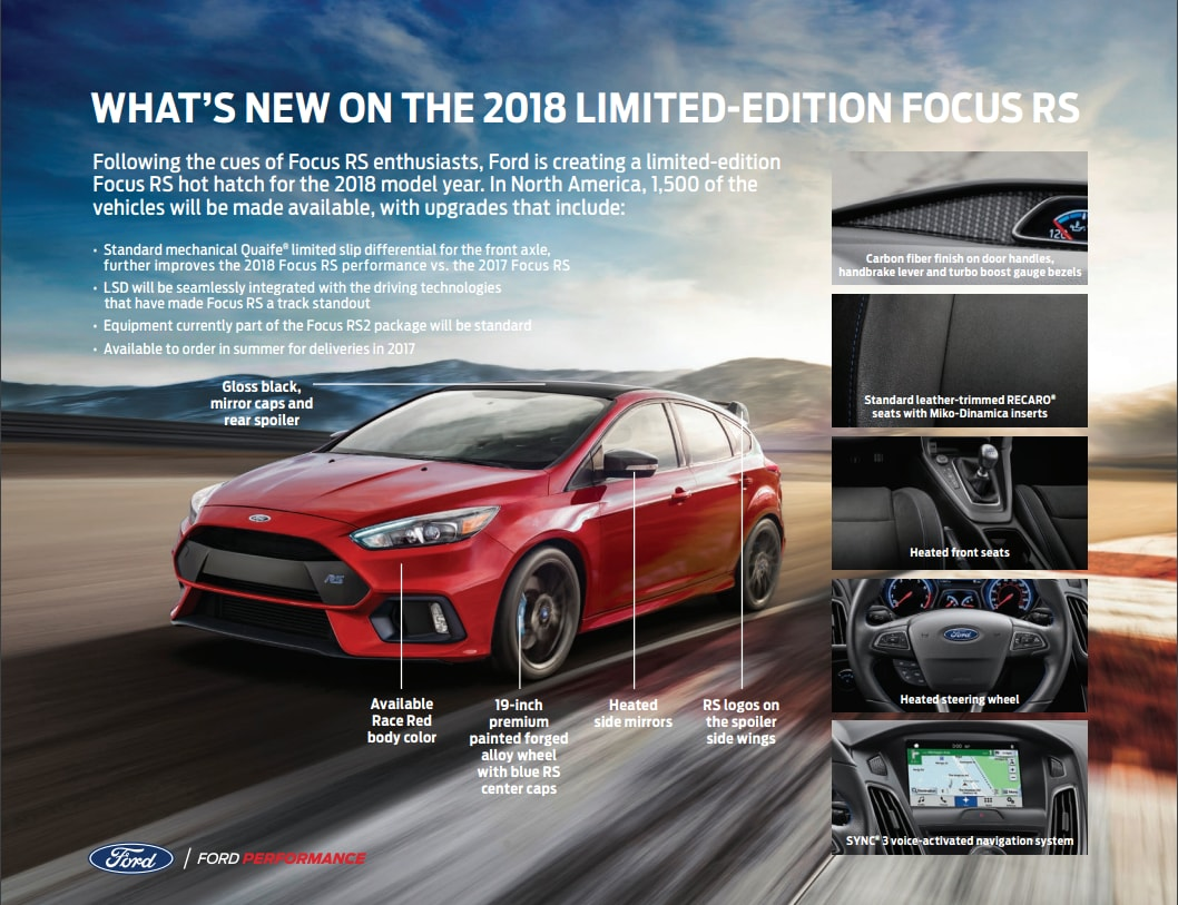 2018 Limited-Edition Focus RS