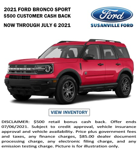 April 2021 New Ford Bronco Sport Special
