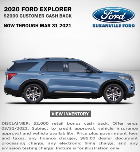January 2021 New Ford Explorer Special