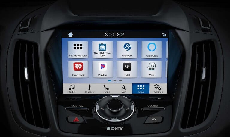 2019 Ford Escape interior infotainment screen