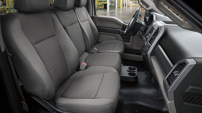 The comfortable interior of the 2019 Ford F-Series Chassis Cab will make commutes more enjoyable