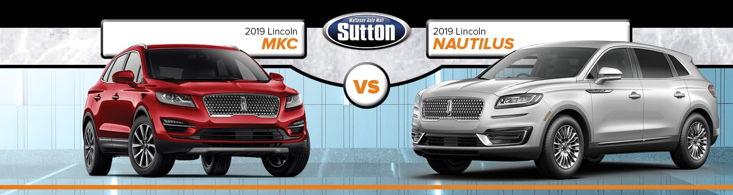 2019 Lincoln MKC vs. 2019 Lincoln Nautilus