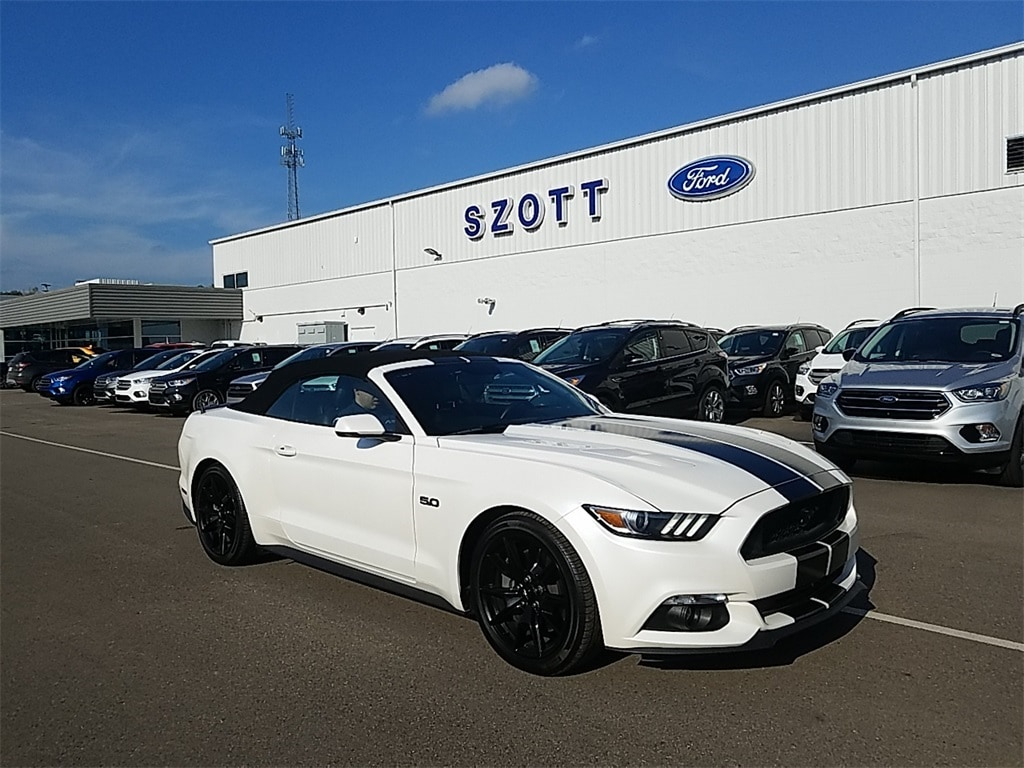 New 2017 ford mustang gt premium convertible ti vct v8 engine for sale lease holly mi