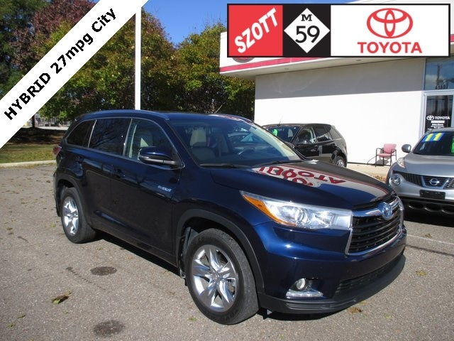 Used 2015 Toyota Highlander Hybrid Hybrid Limited SUV for sale near Detroit