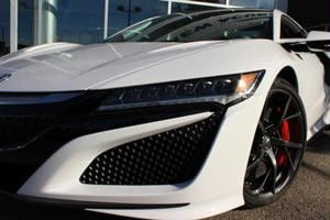 Aggressive front fascia on the 2017 Acura NSX