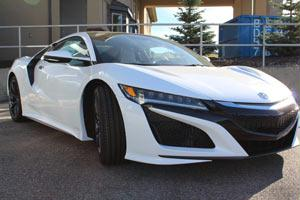 2017 Acura NSX in front 3/4 profile
