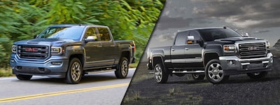 2018 GMC Sierra 1500 vs GMC Sierra 2500HD