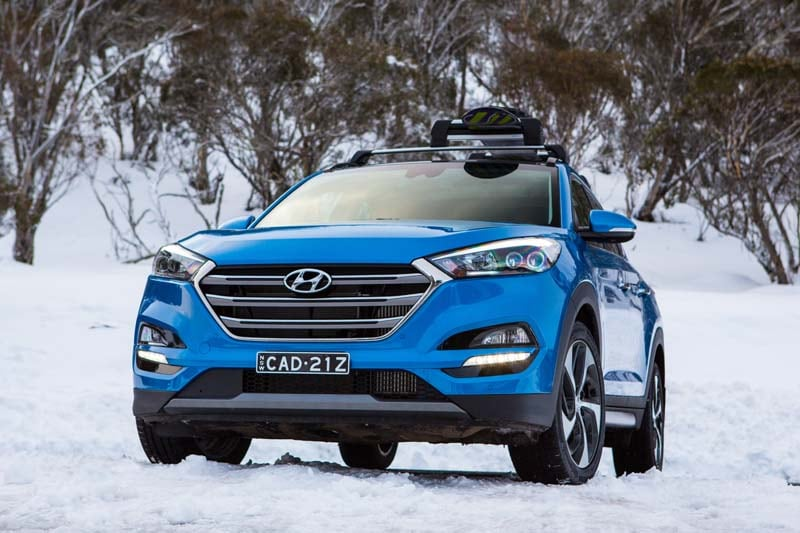 Hyundai Tucson winter driving