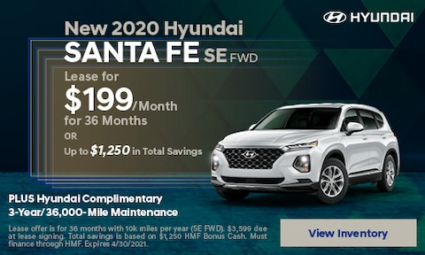 New 2020 Hyundai Santa Fe SE FWD - April
