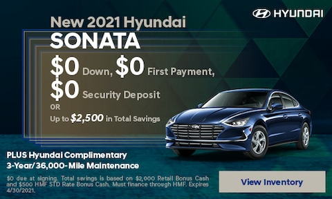 New 2021 Hyundai Sonata - April
