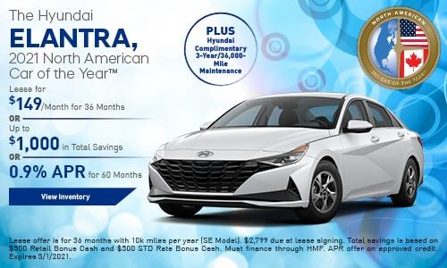 The Hyundai ELANTRA, 2021 North American Car of the Year™ - February