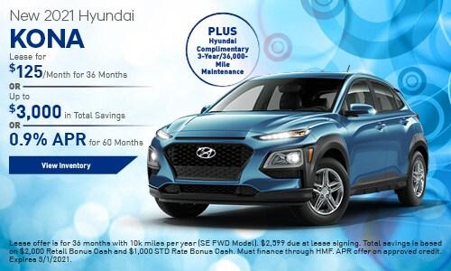New 2021 Hyundai Kona SE - February