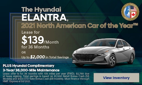 The Hyundai ELANTRA, 2021 North American Car of the Year™ - April