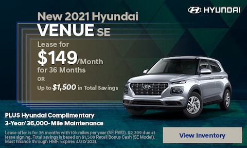 New 2021 Hyundai Venue SE - April