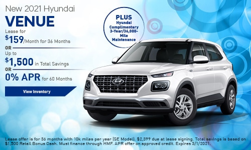 New 2021 Hyundai Venue - January