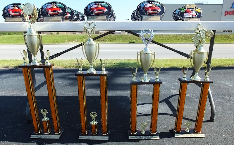 Tom Ahl's Annual Car Show Trophies