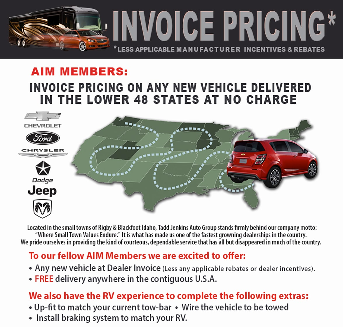 Tadd Jenkins Auto Group New Dodge Jeep Chevrolet Ford Chrysler - Dodge ram dealer invoice price
