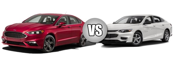 Ford Fusion compared to the Chevy Malibu