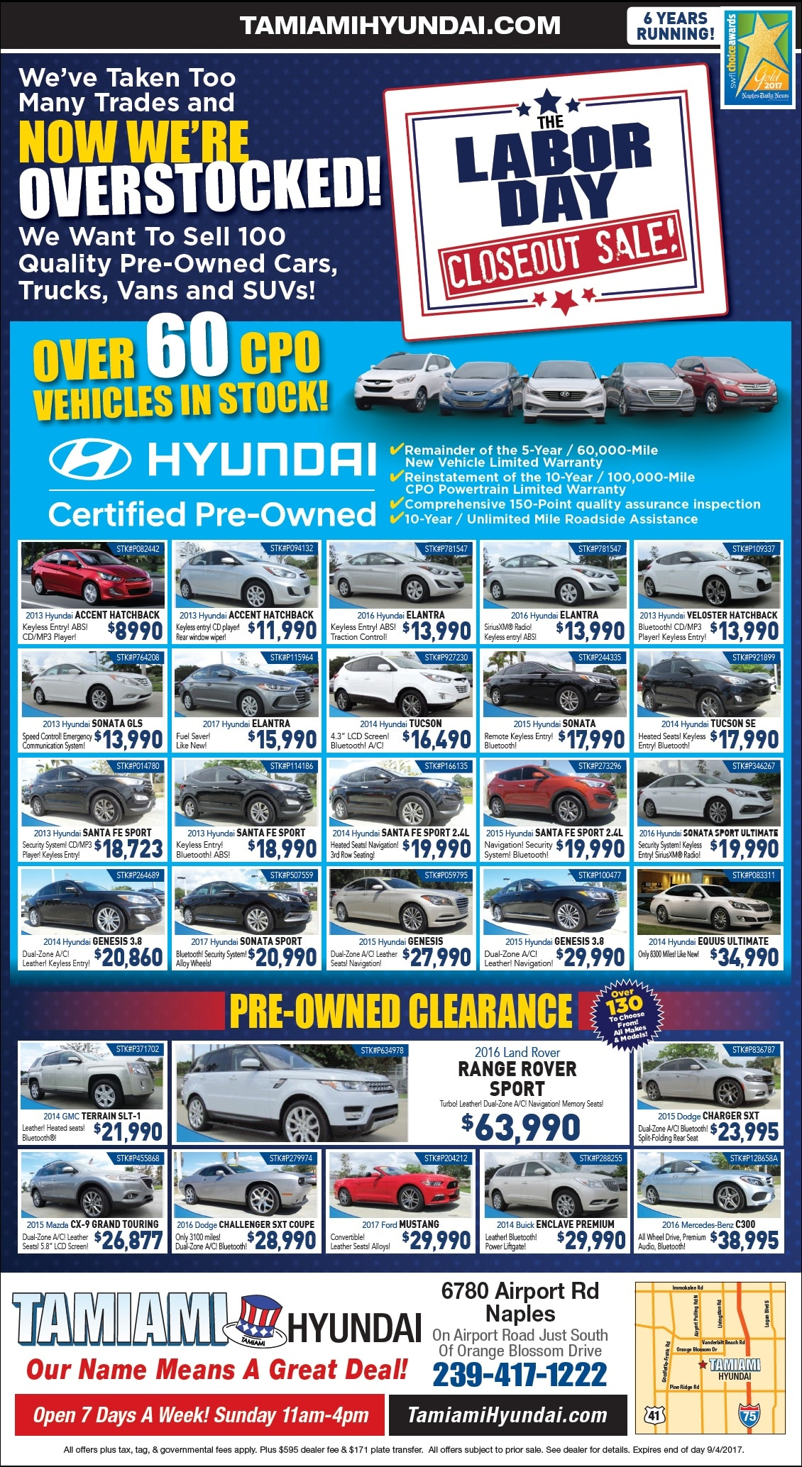 Used Car Print Ad | Tamiami Ford | Naples FL