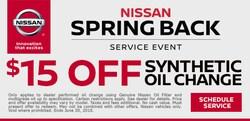 Spring Back Service Event