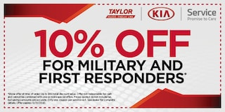 Kia 10% Off Military and First Responders