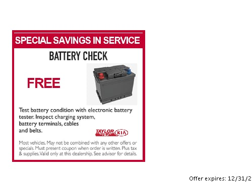 kia coupons for battery