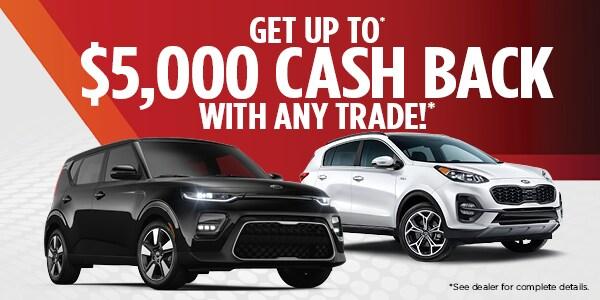 $5,000 Cash Back