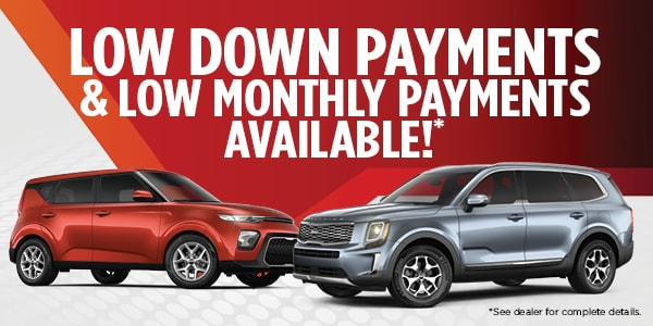 Low down payment & Low monthly payment