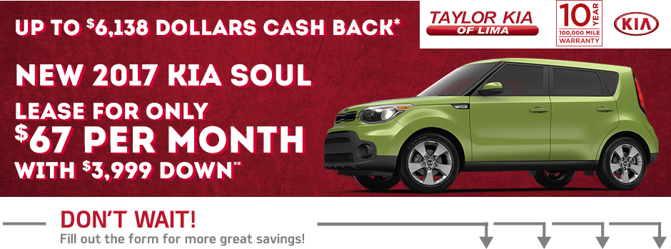 Save This Month At Taylor Kia Of Lima.